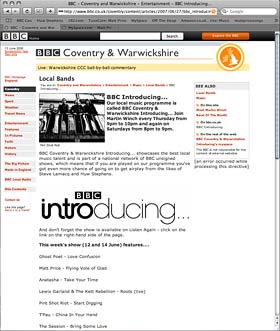 BBC Introducing with Matt Leonard Price